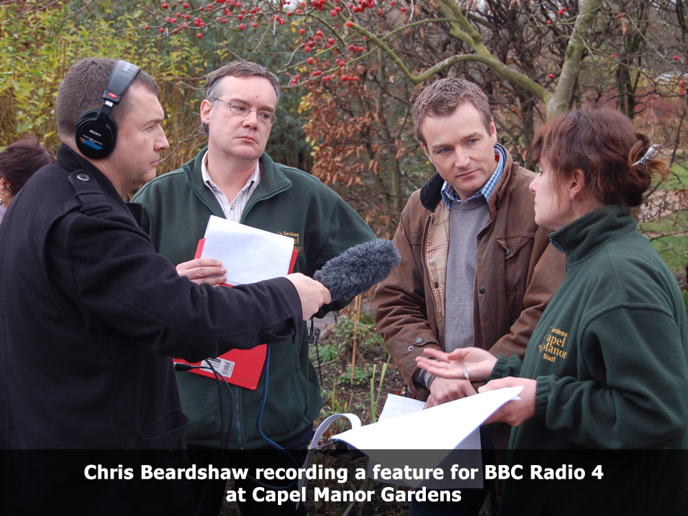 Chris Beardshaw recording a feature for BBC Radio 4.jpg