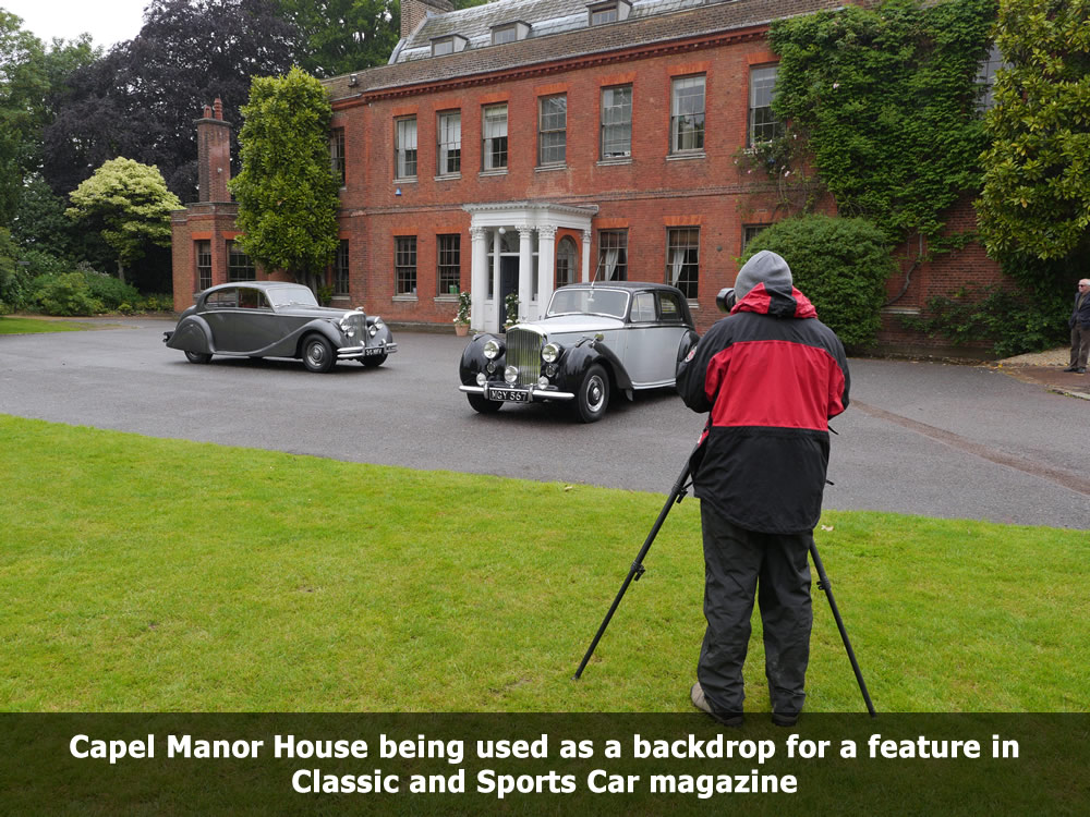Classic and Sports Car magazine photoshoot at Capel Manor Gardens.jpg