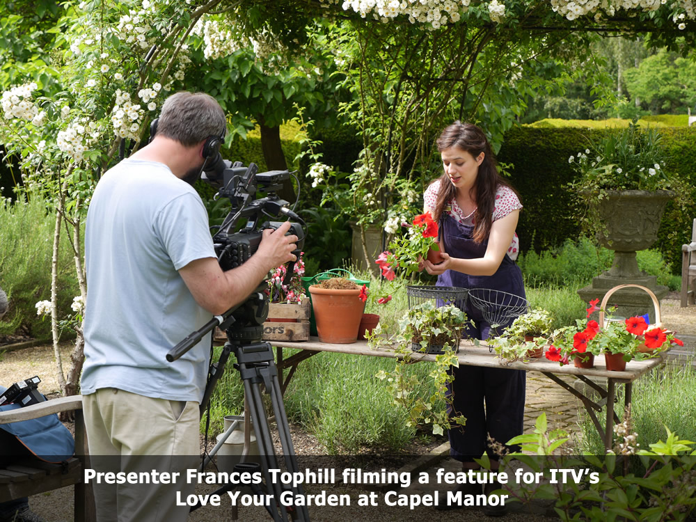 ITV filming Love Your Garden at Capel Manor College.jpg
