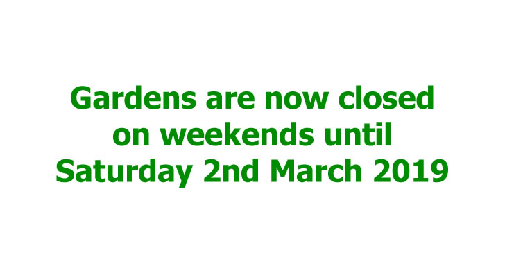 gardens closed at weekends