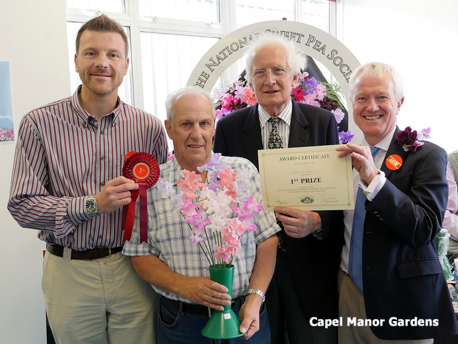 The judges for the competition were John Fothergill of Mr Fothergill's, gardening writer Peter Seabrook MBE and Stephen Dowbiggin OBE, principal of Capel Manor College.