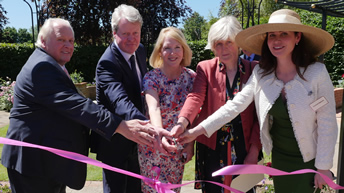 Earl Spencer and his sister Lady Fellowes attend opening of the Diana Legacy Rose Garden at Capel Manor